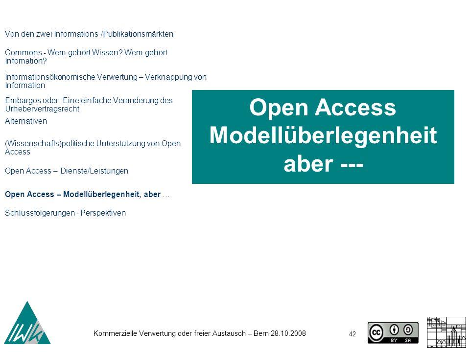 Open Access Modellüberlegenheit aber ---