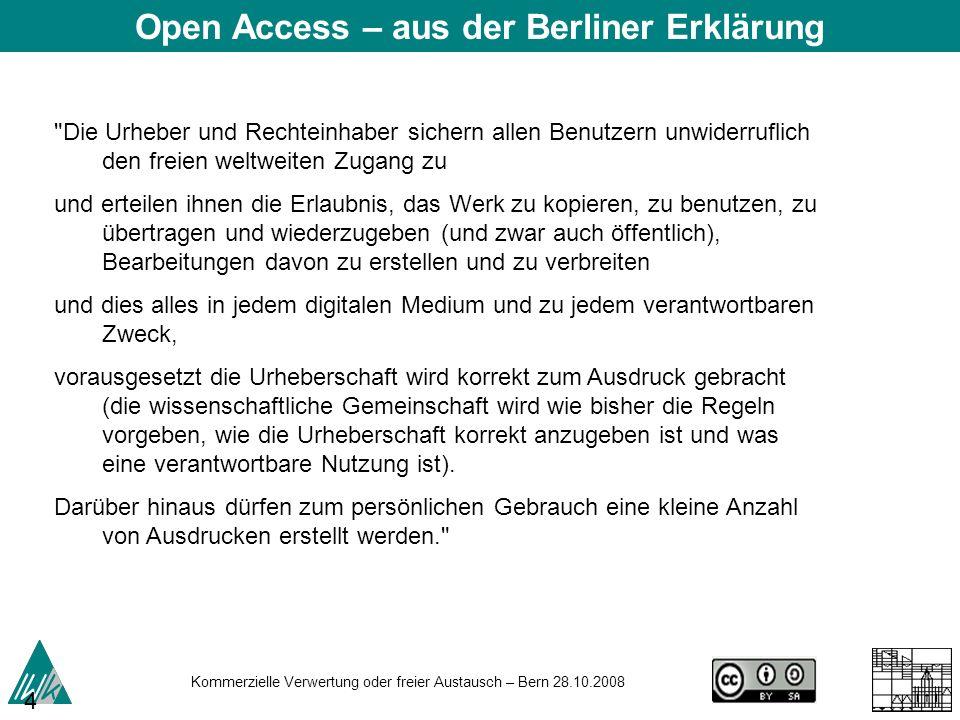 Open Access – aus der Berliner Erklärung