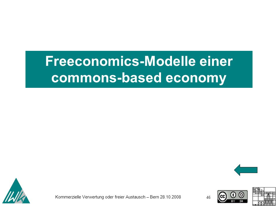 Freeconomics-Modelle einer commons-based economy