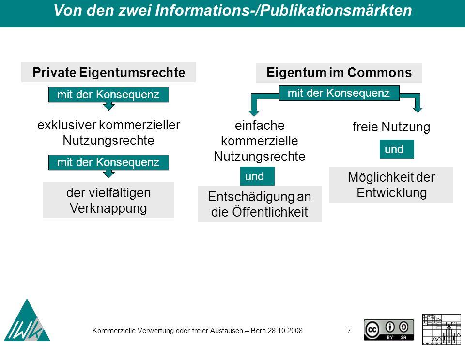Von den zwei Informations-/Publikationsmärkten Private Eigentumsrechte
