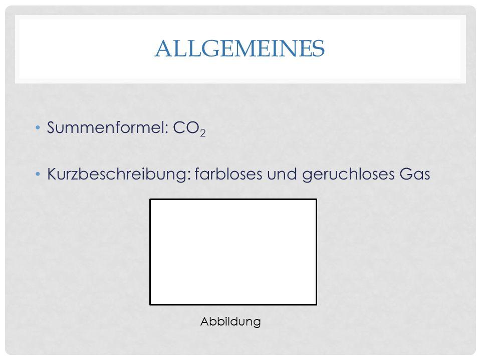 Allgemeines Summenformel: CO2