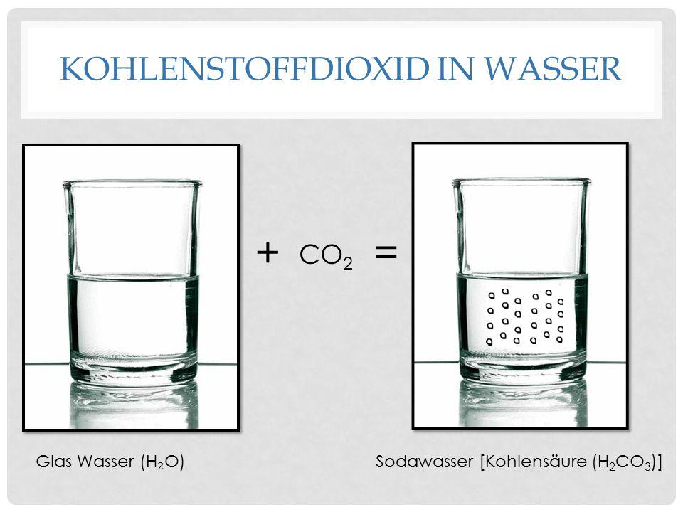 Kohlenstoffdioxid in Wasser