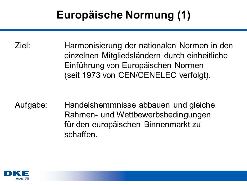 Europäische Normung (1)