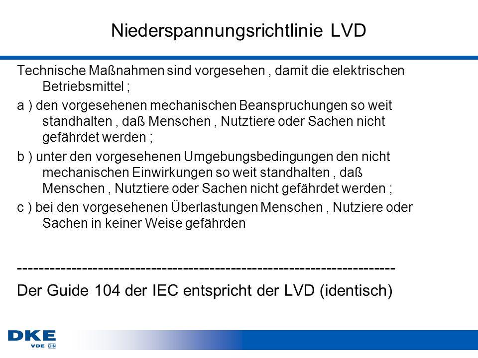 Niederspannungsrichtlinie LVD