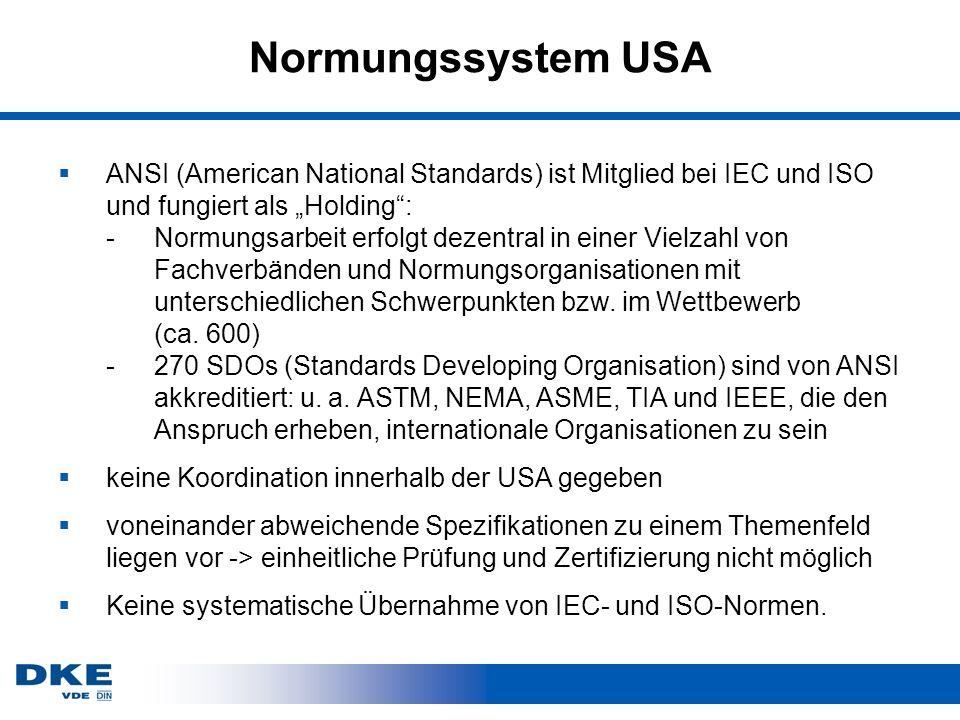 Normungssystem USA