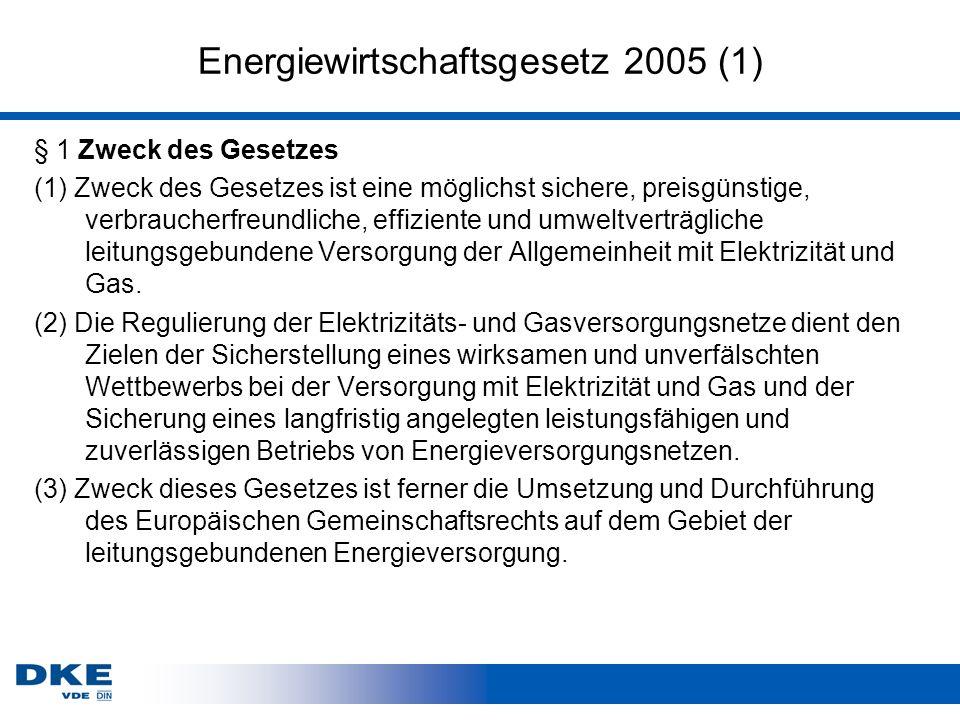 Energiewirtschaftsgesetz 2005 (1)