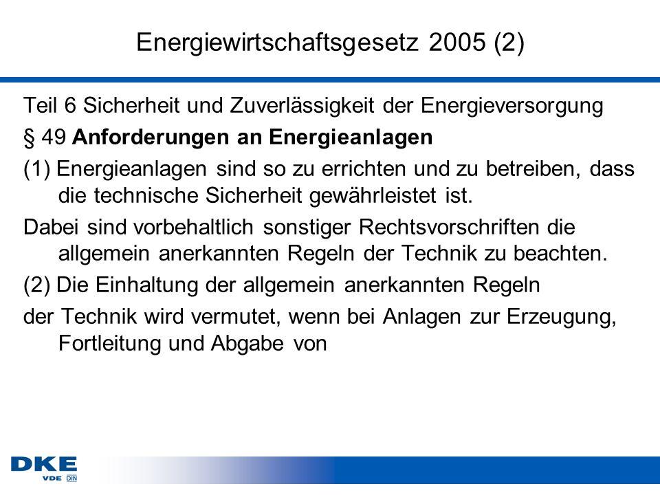 Energiewirtschaftsgesetz 2005 (2)