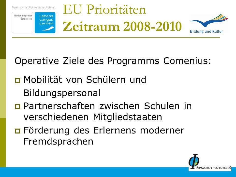 EU Prioritäten Zeitraum 2008-2010