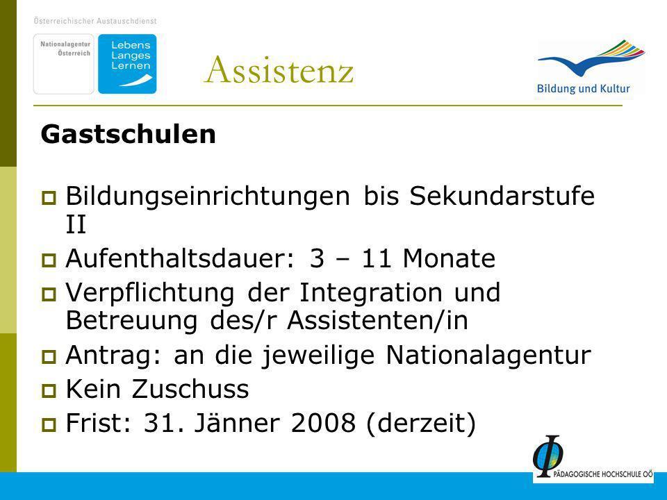 Assistenz Gastschulen Bildungseinrichtungen bis Sekundarstufe II
