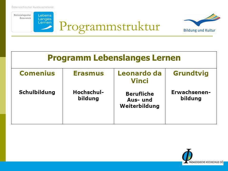 Programm Lebenslanges Lernen Berufliche Aus- und Weiterbildung