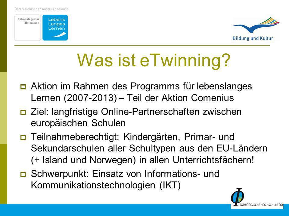 Was ist eTwinning Aktion im Rahmen des Programms für lebenslanges Lernen (2007-2013) – Teil der Aktion Comenius.
