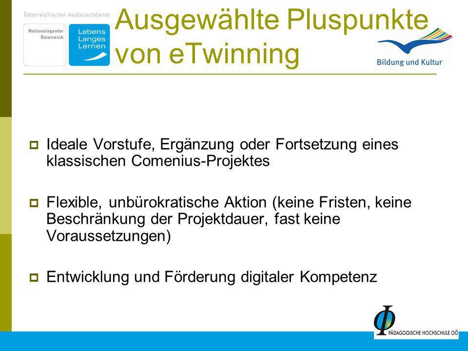 Ausgewählte Pluspunkte von eTwinning