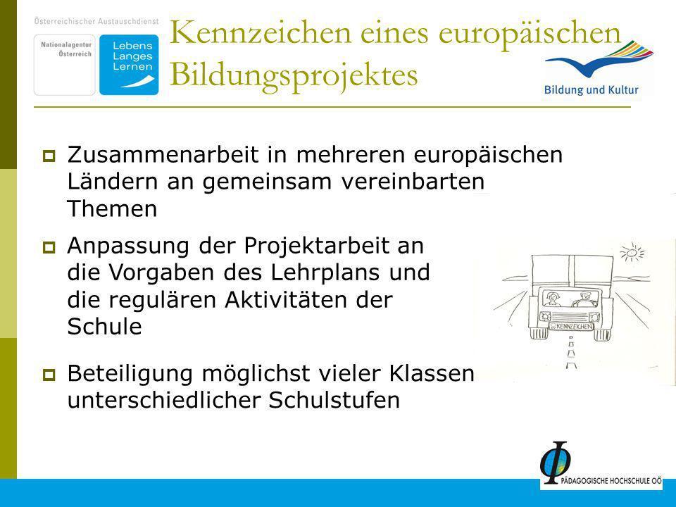 Kennzeichen eines europäischen Bildungsprojektes