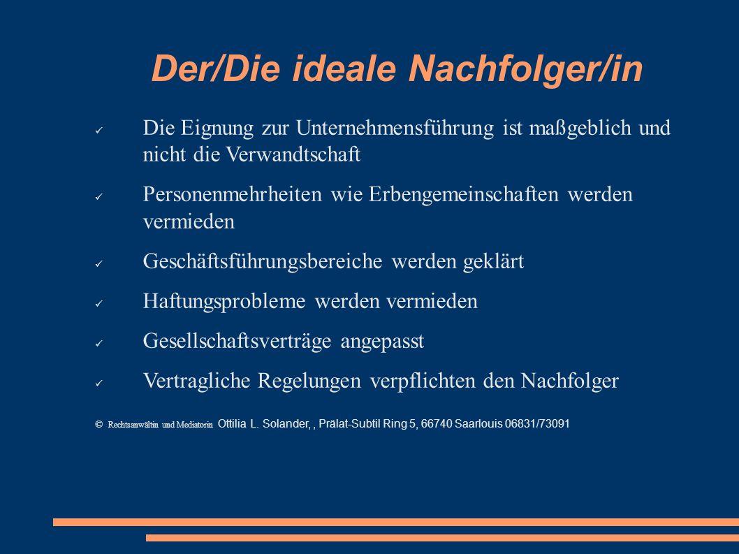 Der/Die ideale Nachfolger/in