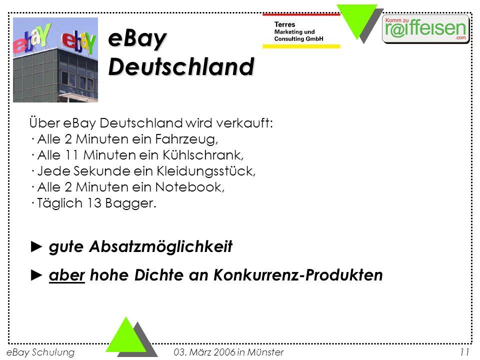 eBay Deutschland ► gute Absatzmöglichkeit