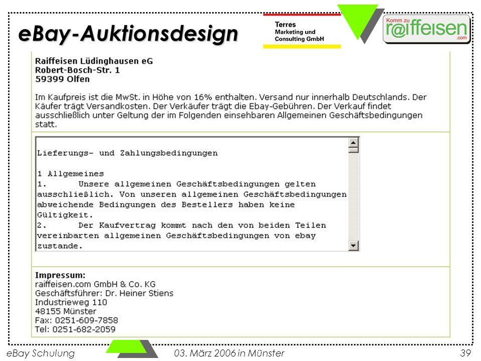 eBay-Auktionsdesign