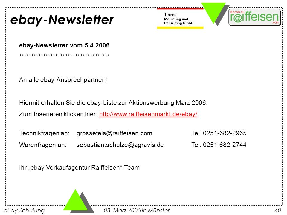 ebay-Newsletter ebay-Newsletter vom 5.4.2006