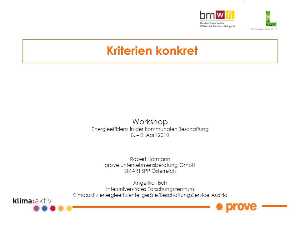 Kriterien konkret Workshop