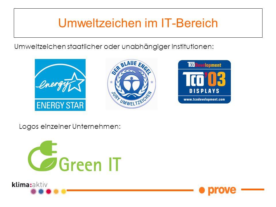 Umweltzeichen im IT-Bereich