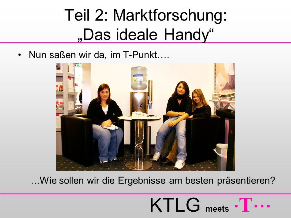 """Teil 2: Marktforschung: """"Das ideale Handy"""