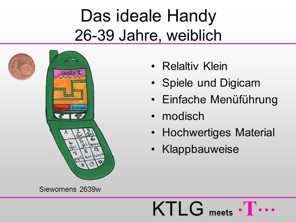 Das ideale Handy 26-39 Jahre, weiblich