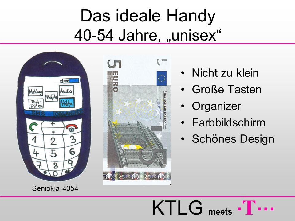 """Das ideale Handy 40-54 Jahre, """"unisex"""