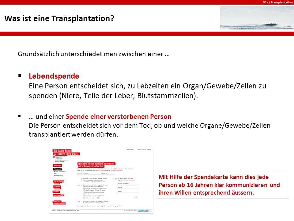 Was ist eine Transplantation