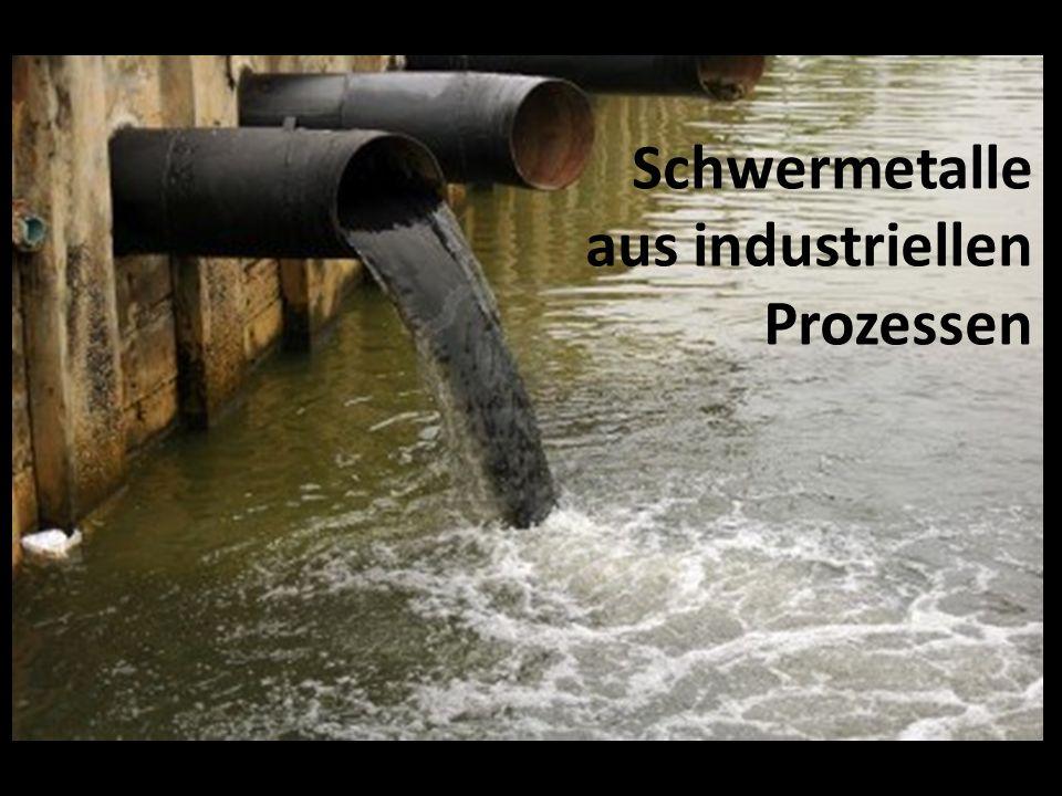 Schwermetalle aus industriellen Prozessen