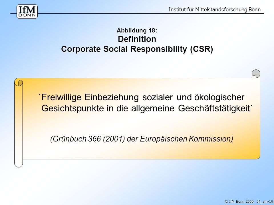 Abbildung 18: Definition Corporate Social Responsibility (CSR)