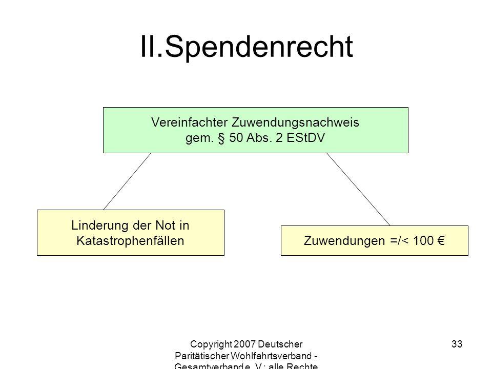 Spendenrecht Vereinfachter Zuwendungsnachweis gem. § 50 Abs. 2 EStDV