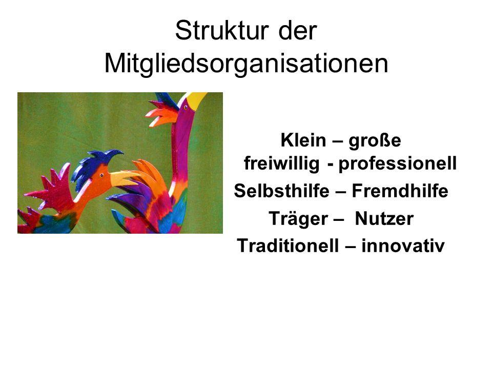 Struktur der Mitgliedsorganisationen