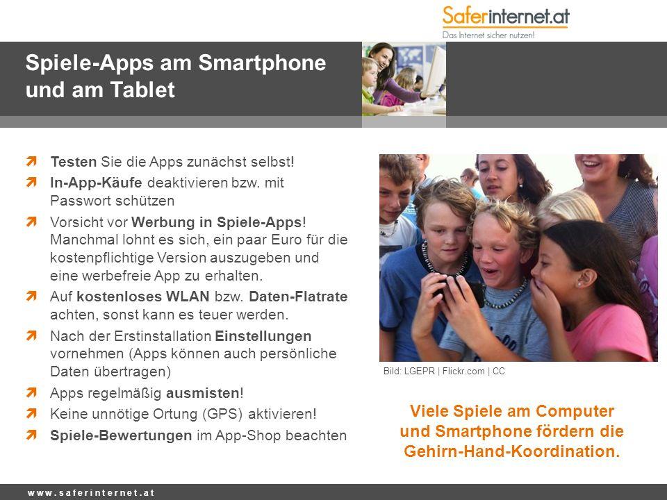 Spiele-Apps am Smartphone und am Tablet