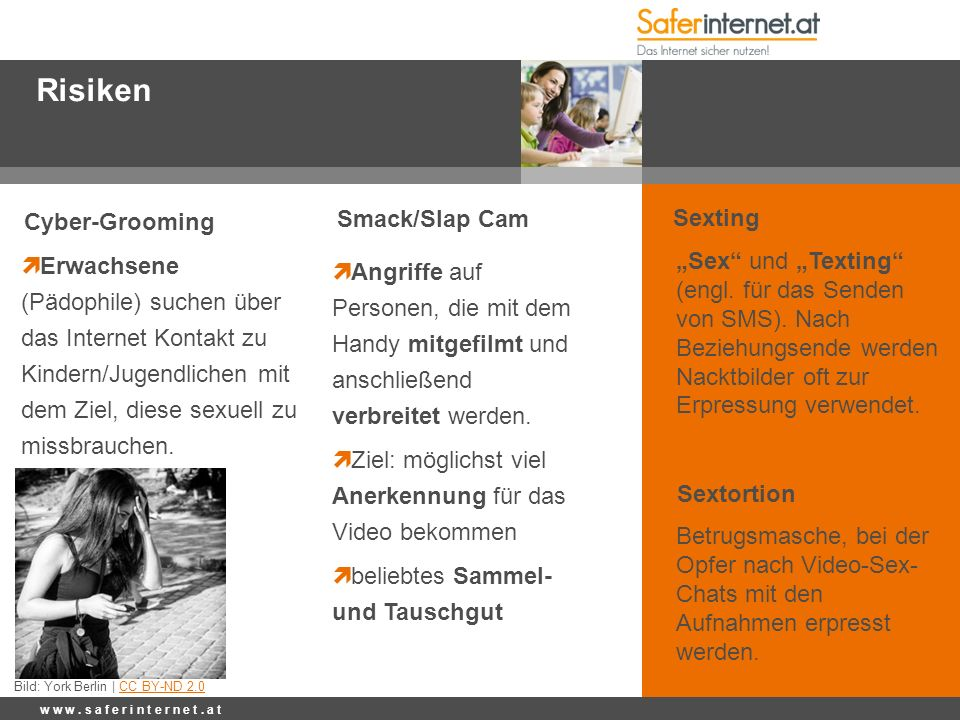 Risiken Cyber-Grooming Smack/Slap Cam Sexting
