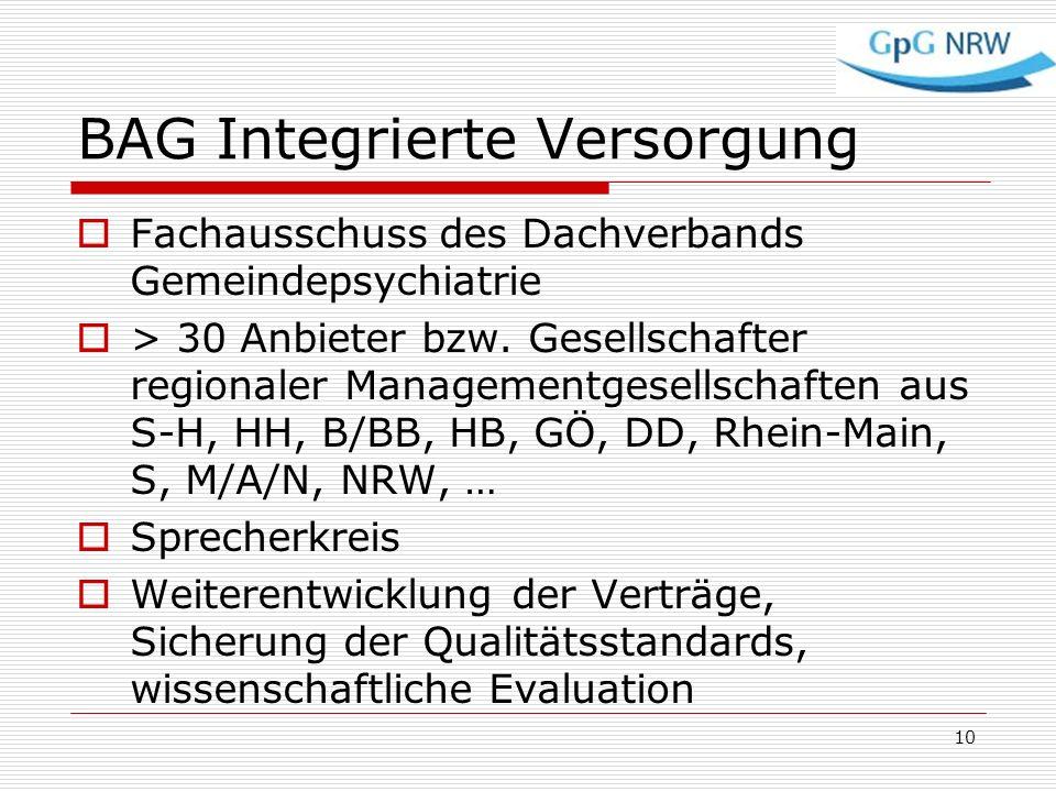 BAG Integrierte Versorgung