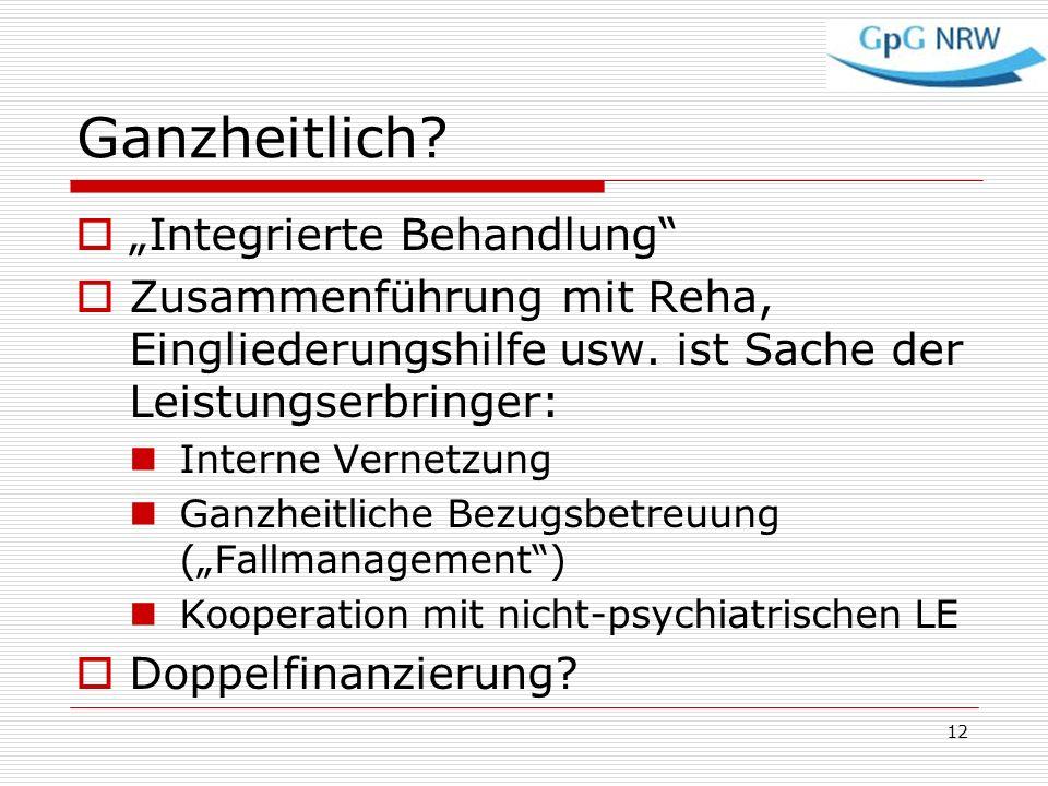 """Ganzheitlich """"Integrierte Behandlung"""
