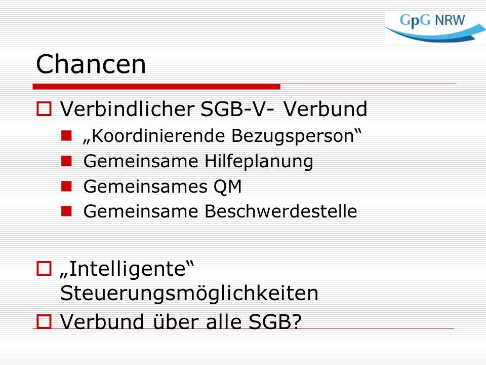 Chancen Verbindlicher SGB-V- Verbund