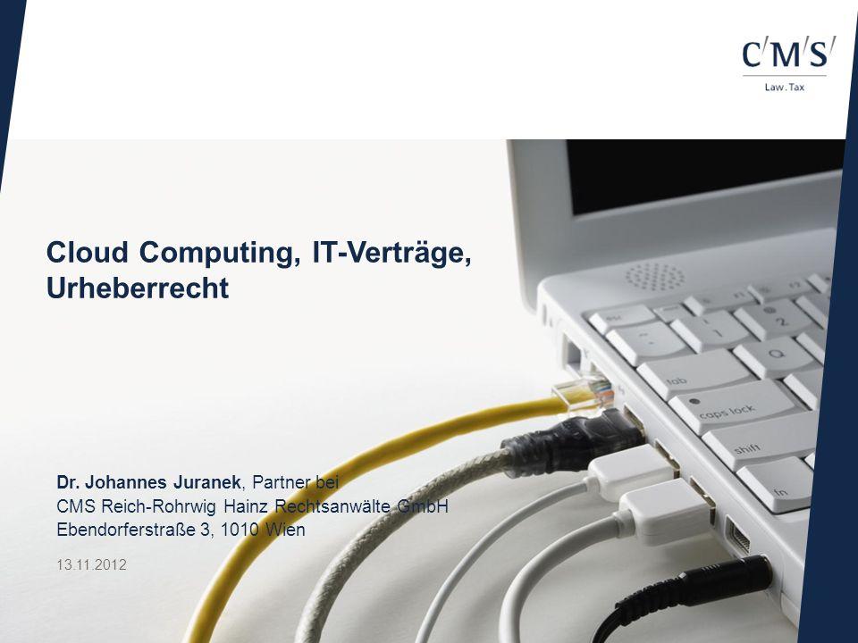 Cloud Computing, IT-Verträge, Urheberrecht