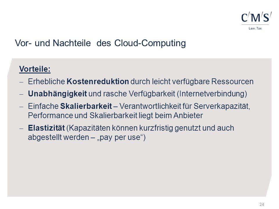 Vor- und Nachteile des Cloud-Computing