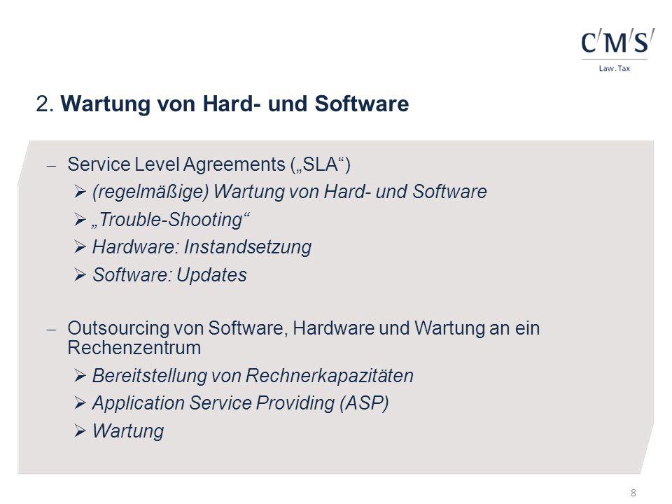 2. Wartung von Hard- und Software