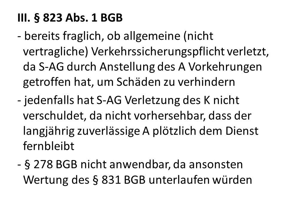 III. § 823 Abs.
