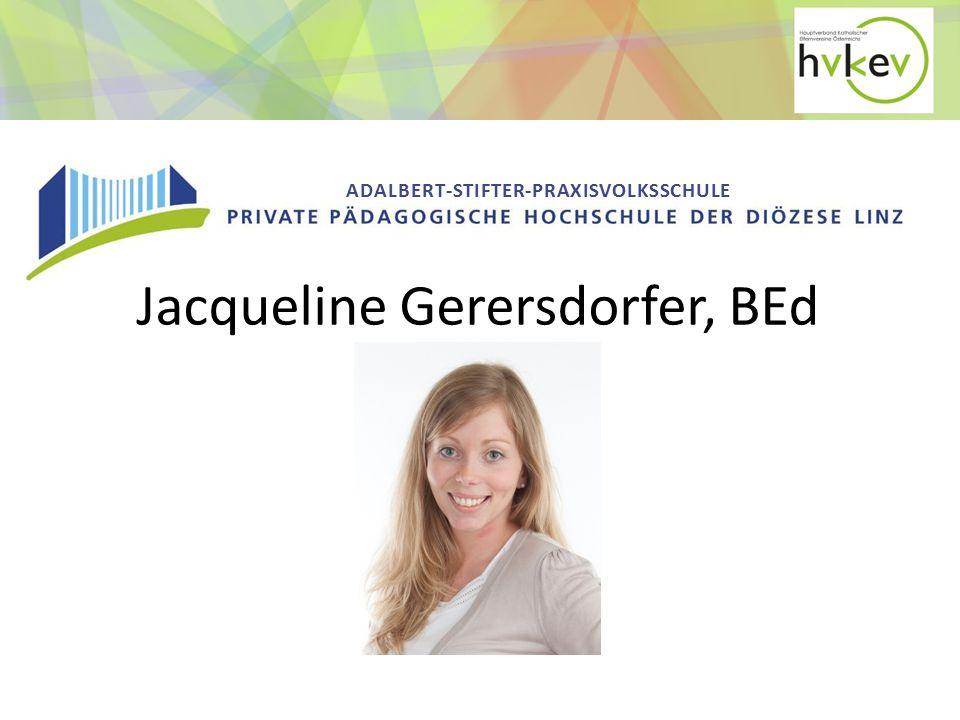 Jacqueline Gerersdorfer, BEd