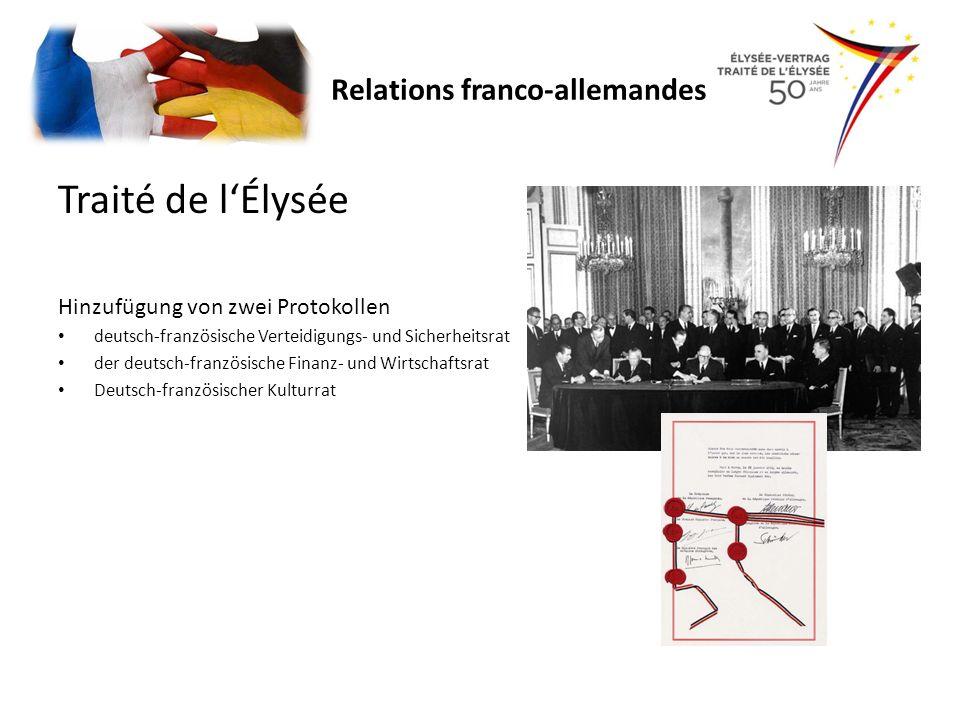 Traité de l'Élysée Relations franco-allemandes