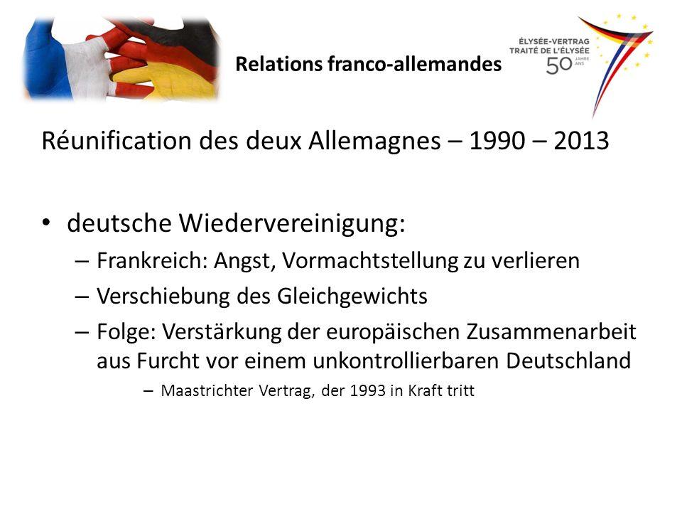 Réunification des deux Allemagnes – 1990 – 2013