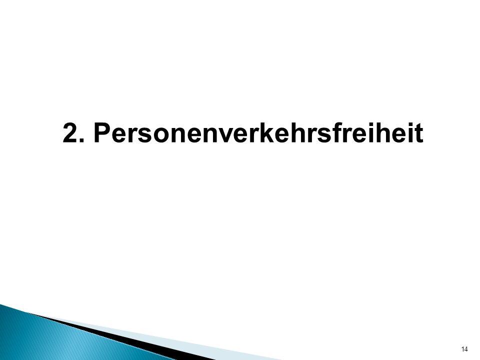 2. Personenverkehrsfreiheit