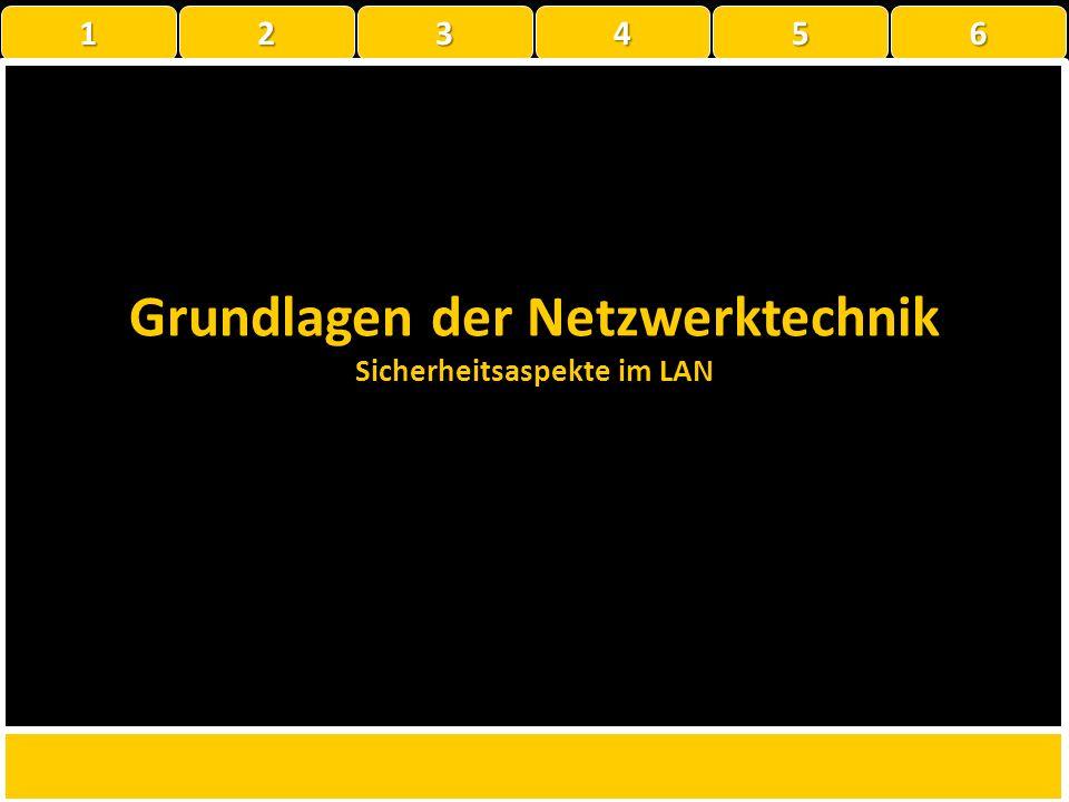 Grundlagen der Netzwerktechnik Sicherheitsaspekte im LAN