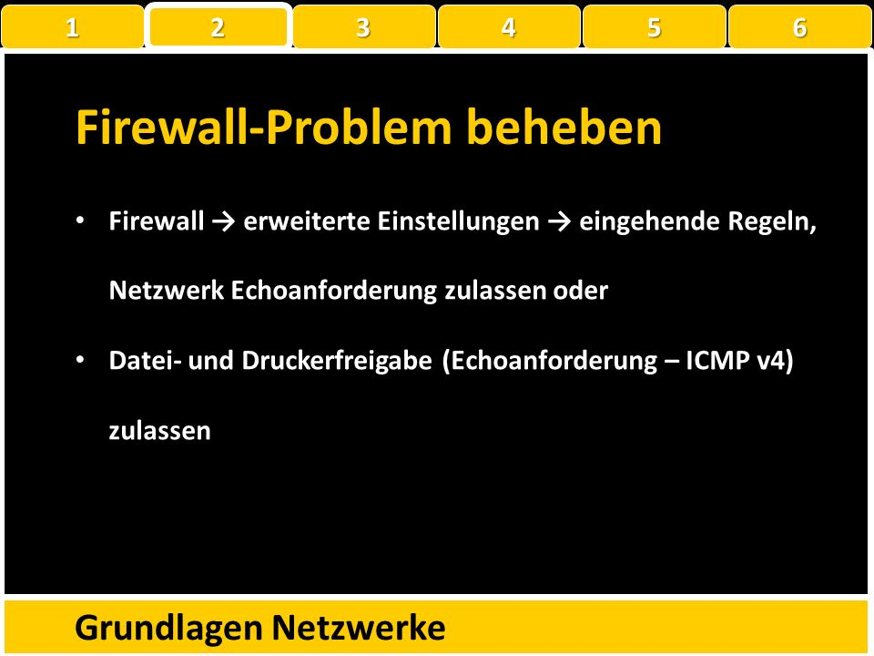 Firewall-Problem beheben