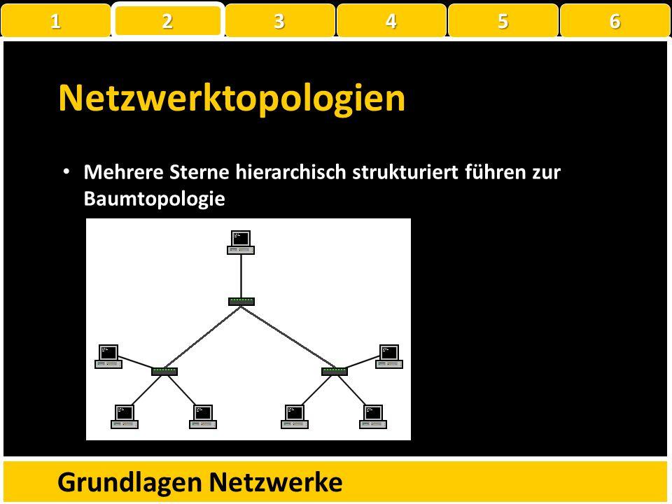 Netzwerktopologien Grundlagen Netzwerke 1 2 3 4 5 6