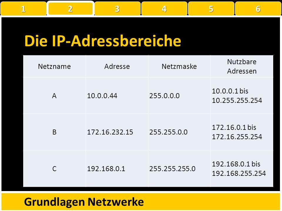 Die IP-Adressbereiche