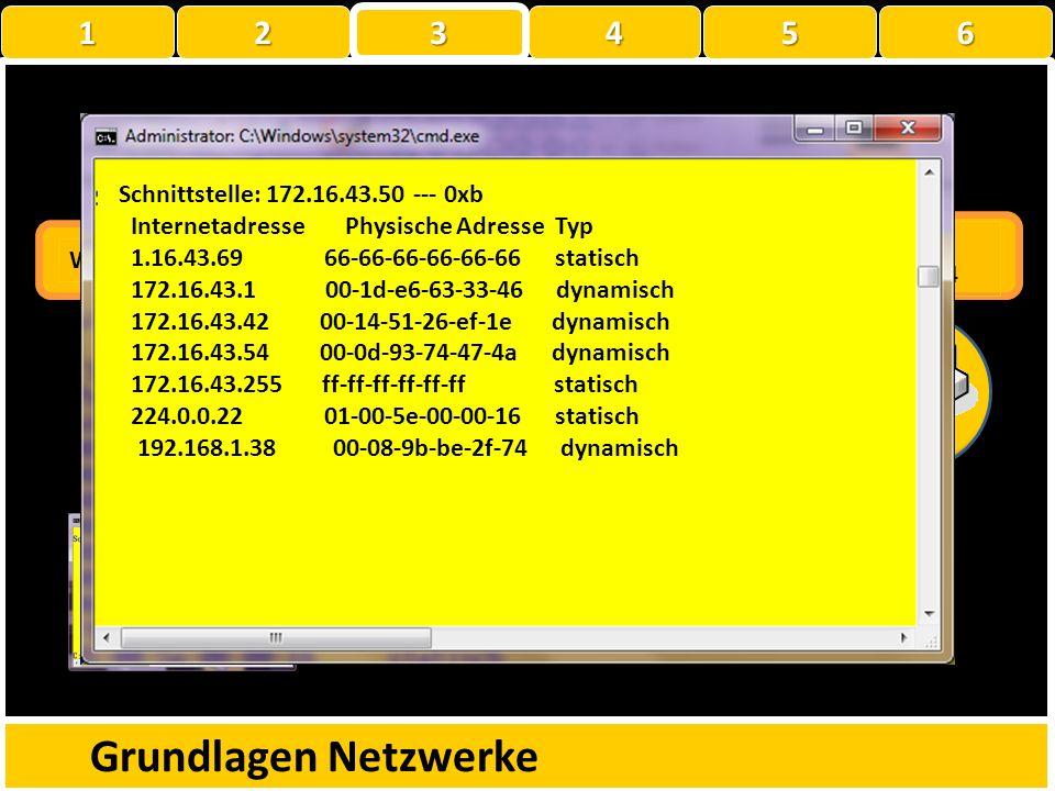 MAC/ARP Grundlagen Netzwerke 1 2 3 4 5 6