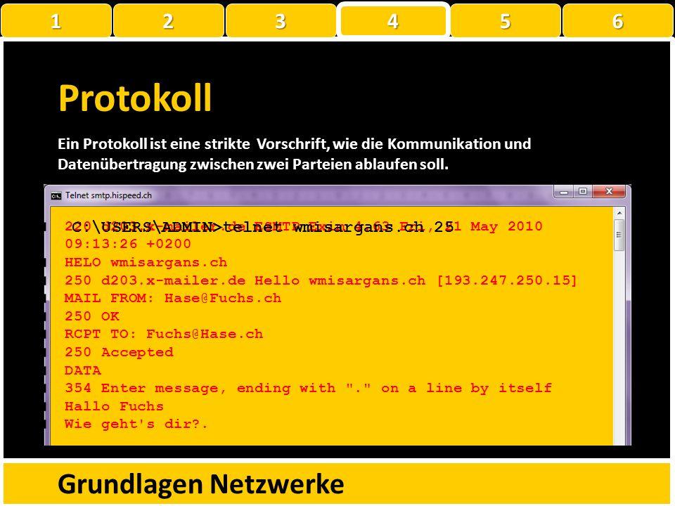 Protokoll Grundlagen Netzwerke 1 2 3 4 5 6